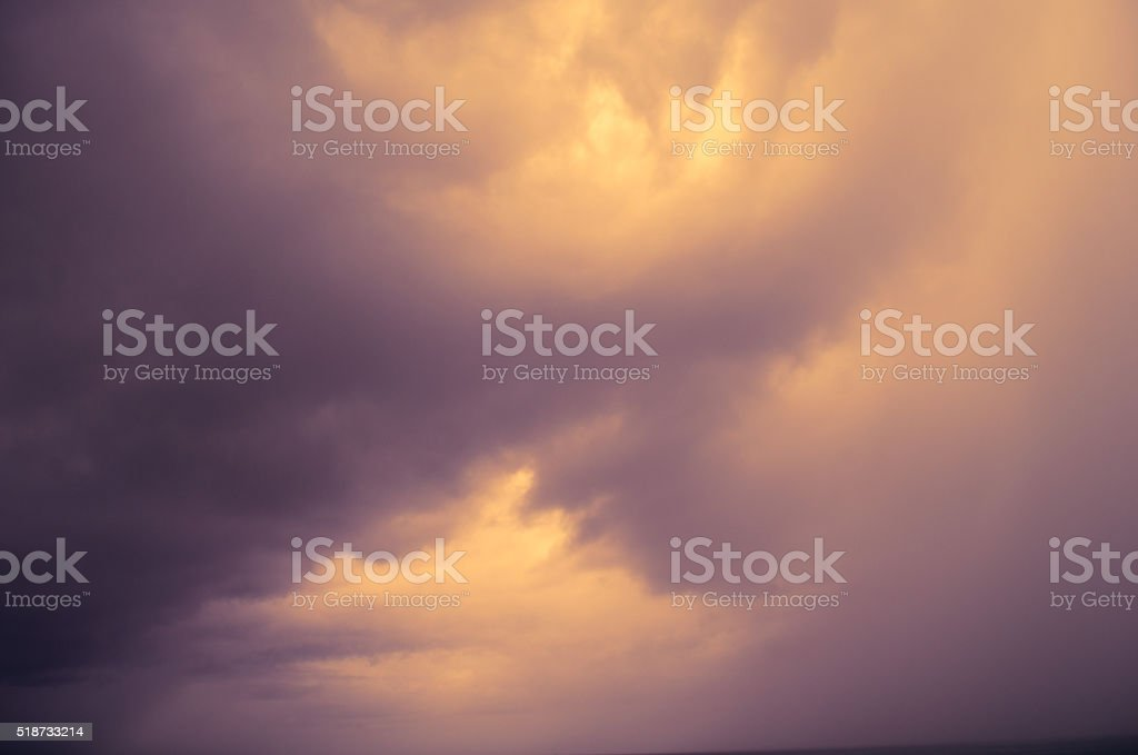 dark threatening storm clouds stock photo