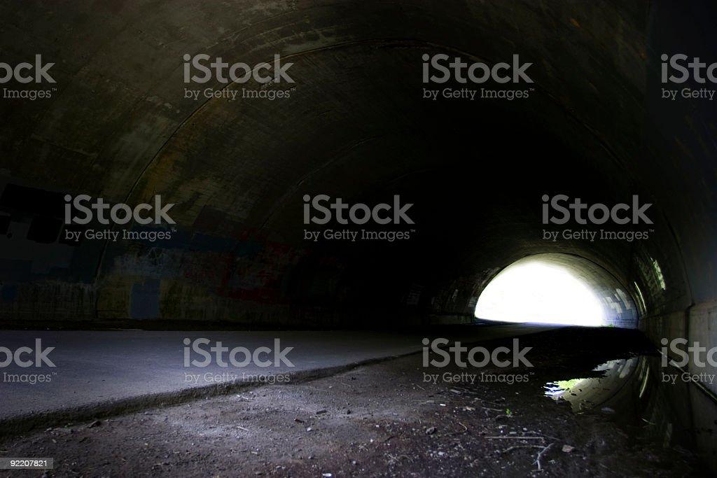 Dark tunnel stock photo
