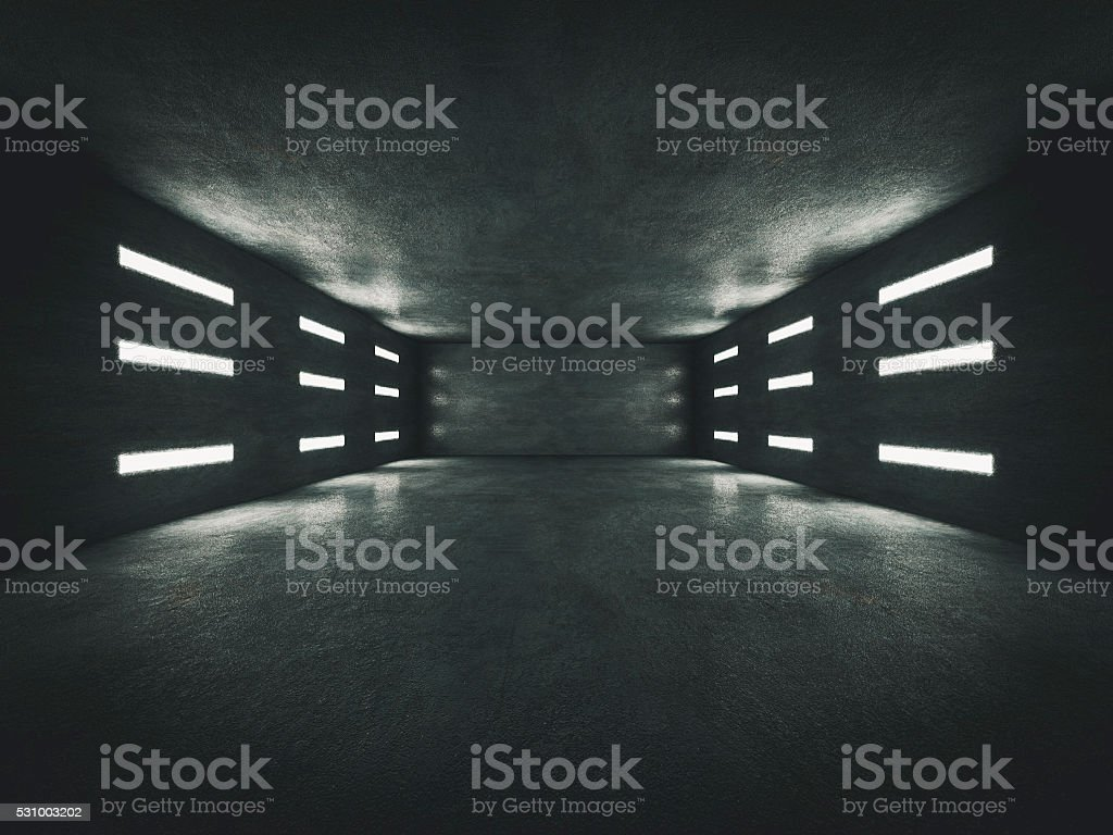 Dark underground empty laboratory stock photo