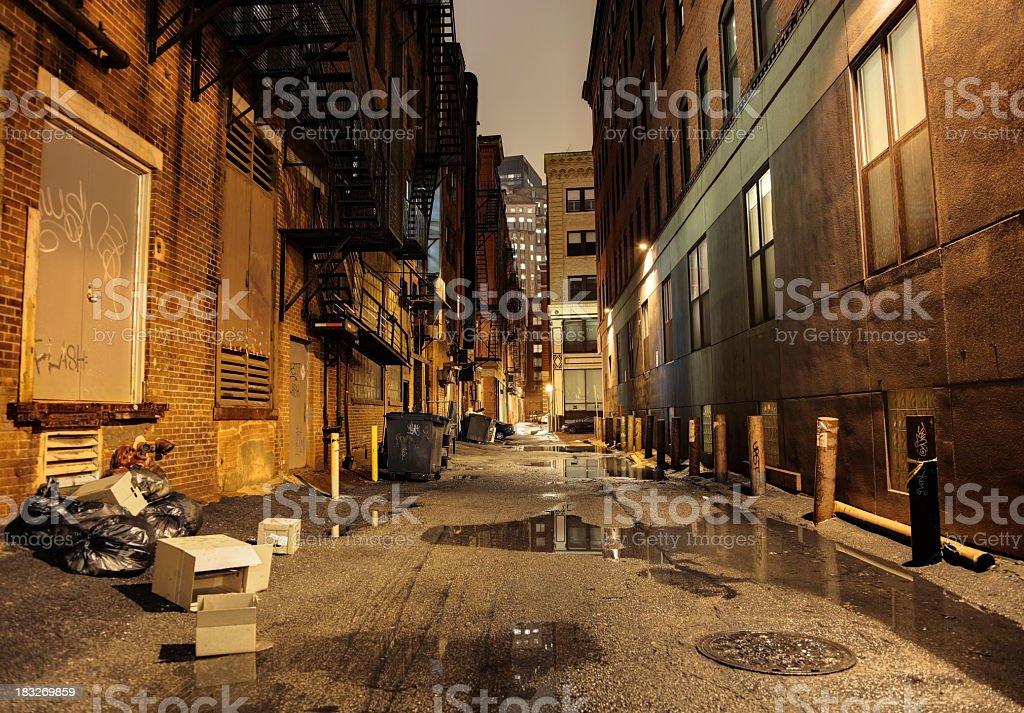 Dark Urban Street stock photo