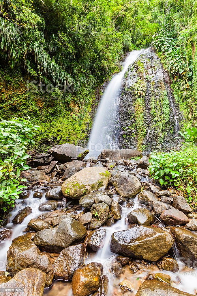 Dark View Falls, St. Vincent royalty-free stock photo
