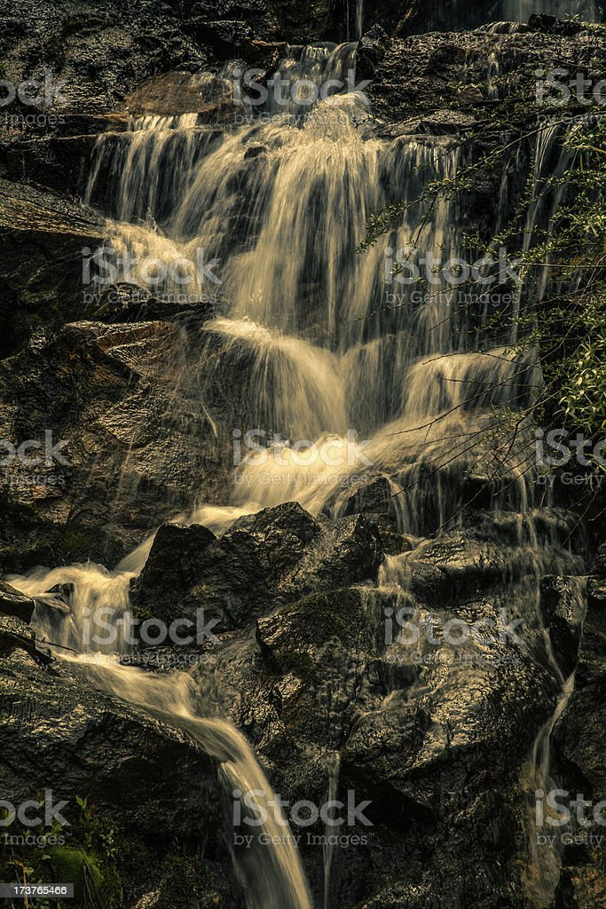 Dark waterfall royalty-free stock photo