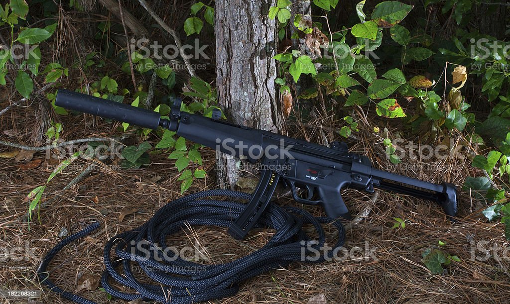 Dark weapon stock photo