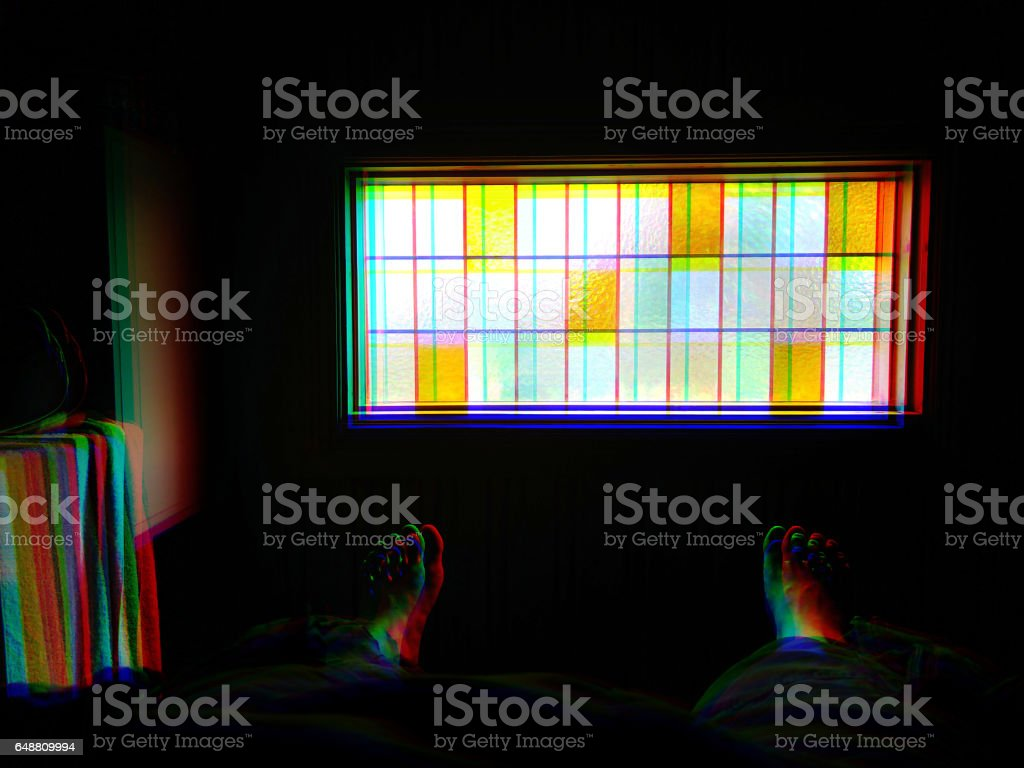 Dark window chroma mosaic illustration background vector art illustration