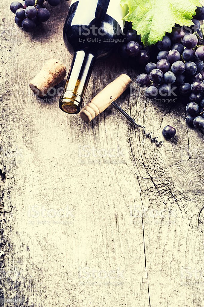 dark wine stock photo