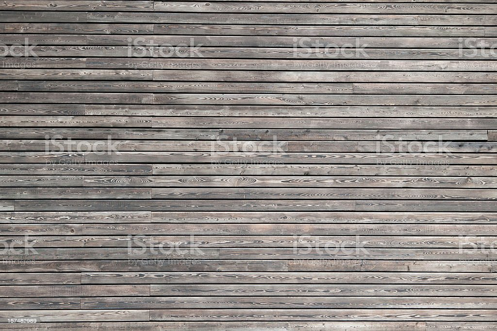 Dark wood cladding of a modern building stock photo