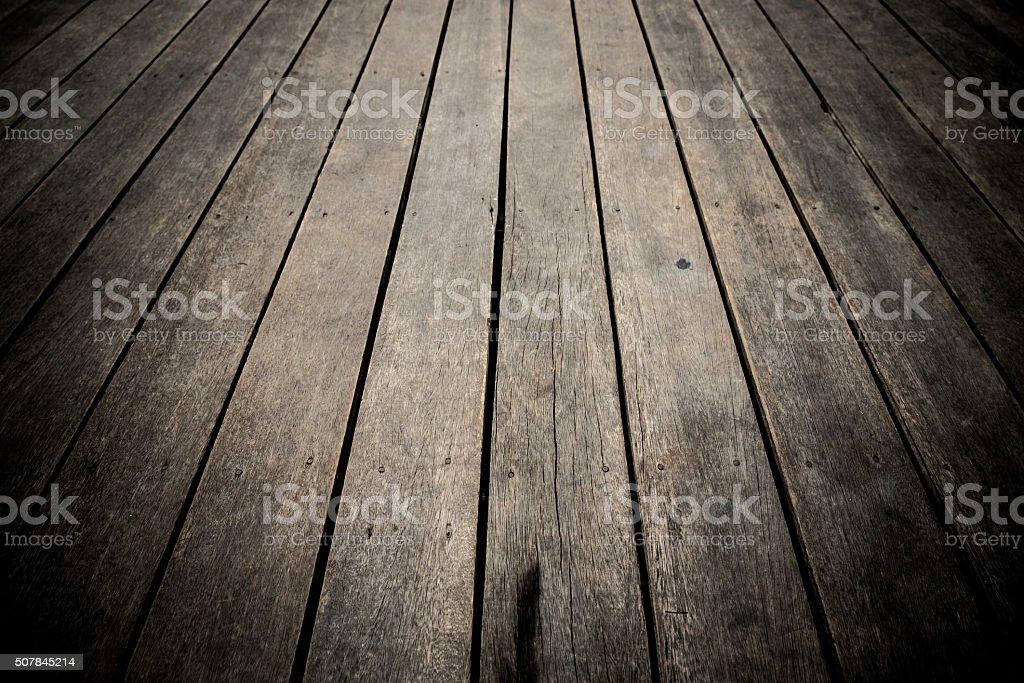 dark wood floor. background stock photo