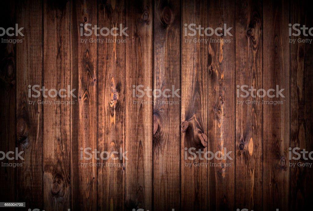 Dark wood planks background stock photo