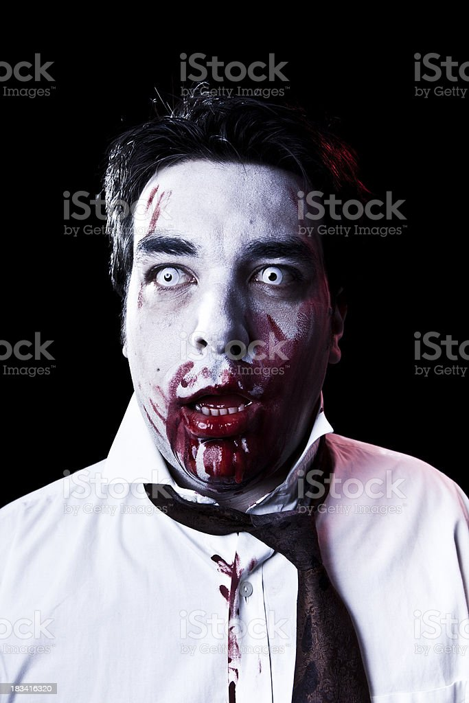 Dark zombie covered with blood royalty-free stock photo