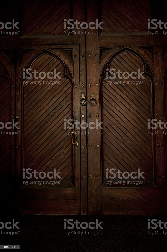 Darkened Doorway stock photo