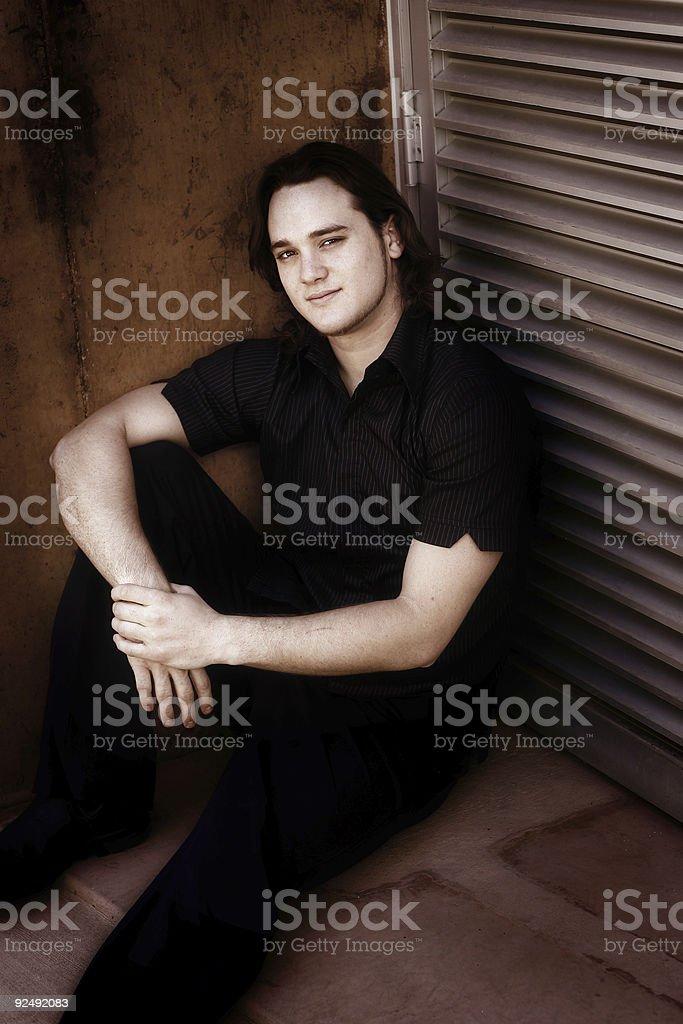 Darkly Casual royalty-free stock photo