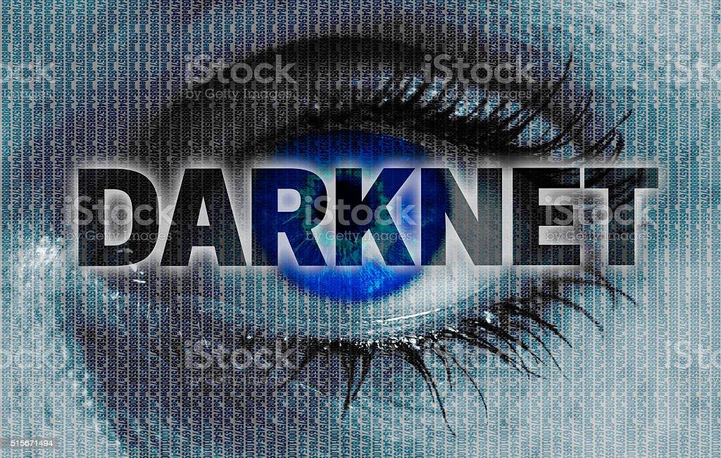 darknet eye looks at viewer concept background stock photo