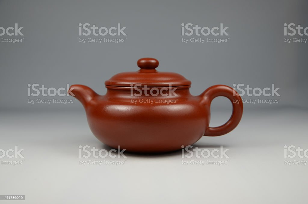 dark-red enameled pottery ,made in china royalty-free stock photo