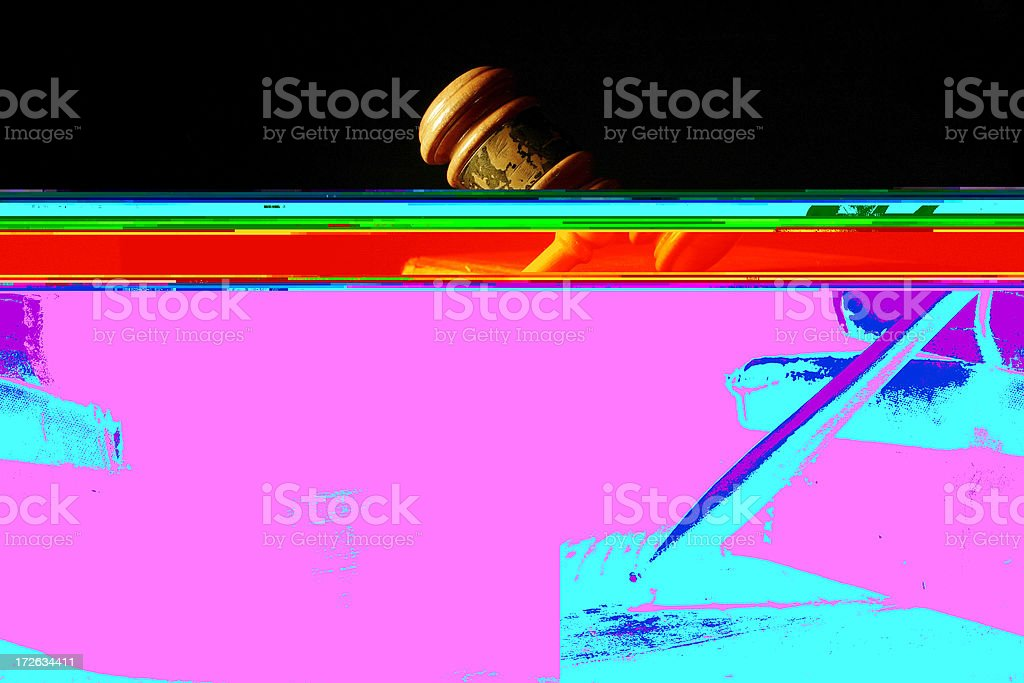 Darkside of Court royalty-free stock photo