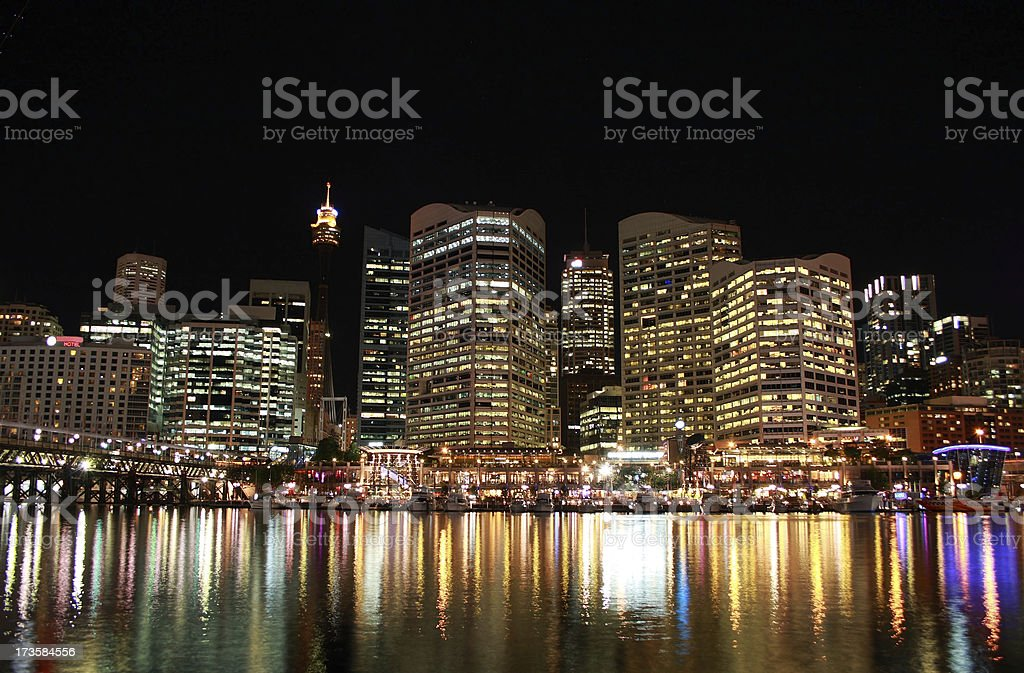 Darling Harbour at Night royalty-free stock photo