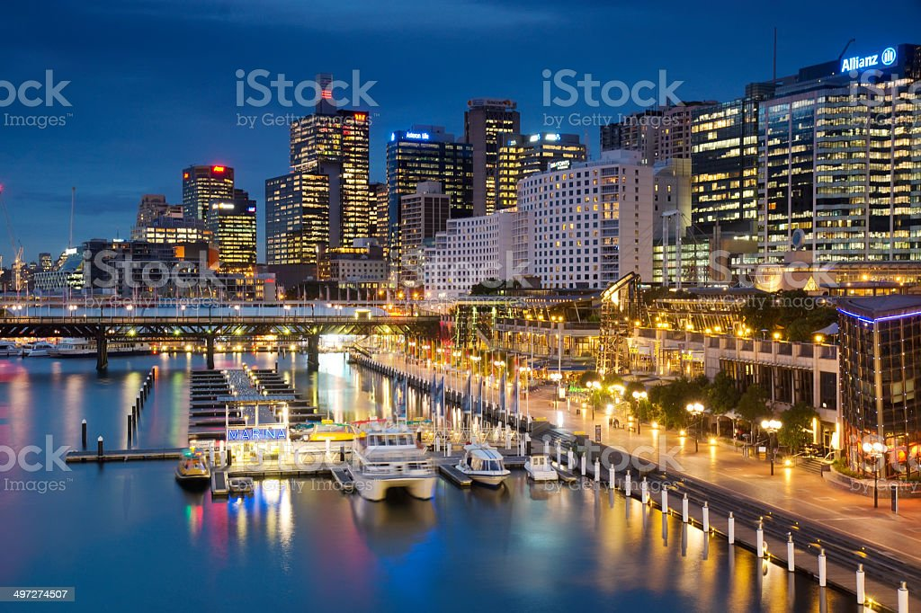 Darling Harbour - Cockle Bay stock photo