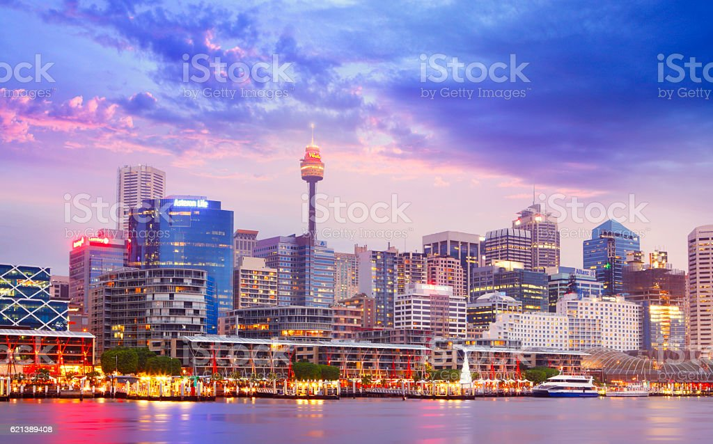 Darling Harbour in Sydney stock photo