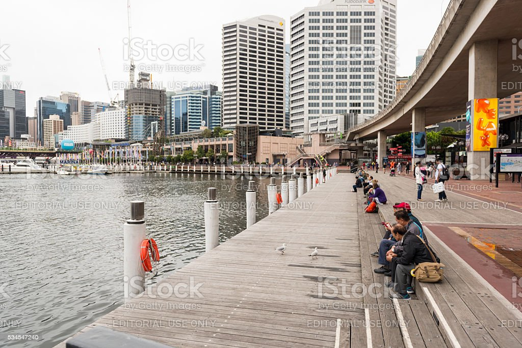 Darling Harbour. Sydney Australia stock photo
