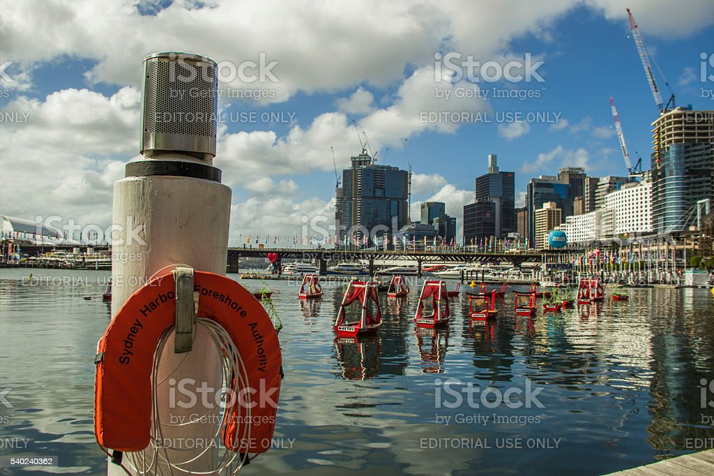 Darling Harbour Sydney on Valentines Day stock photo