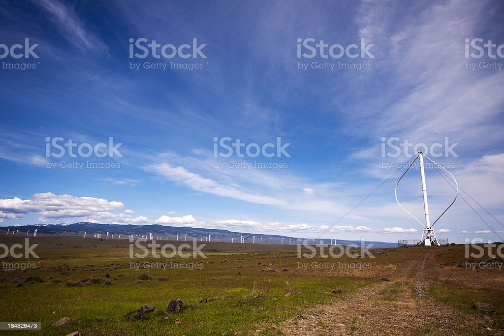 Darrieus Wind Turbine in Central Wahington royalty-free stock photo