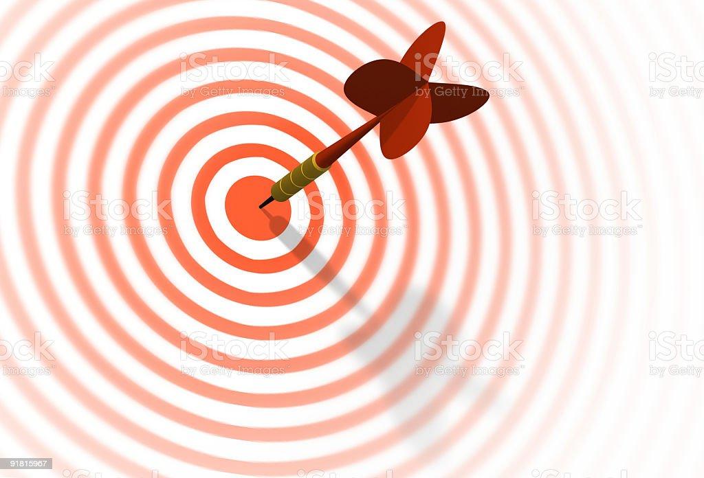 Dart & target stock photo