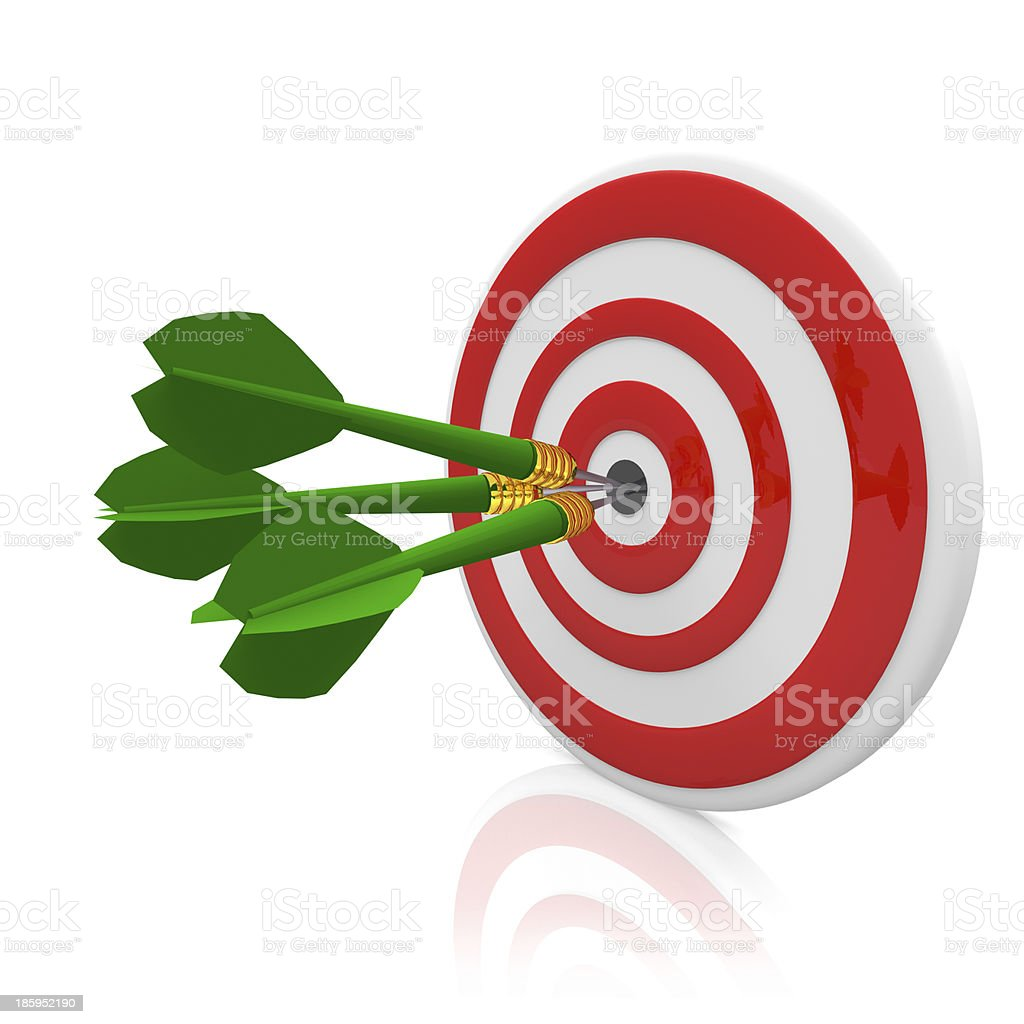Dart and arrow royalty-free stock photo