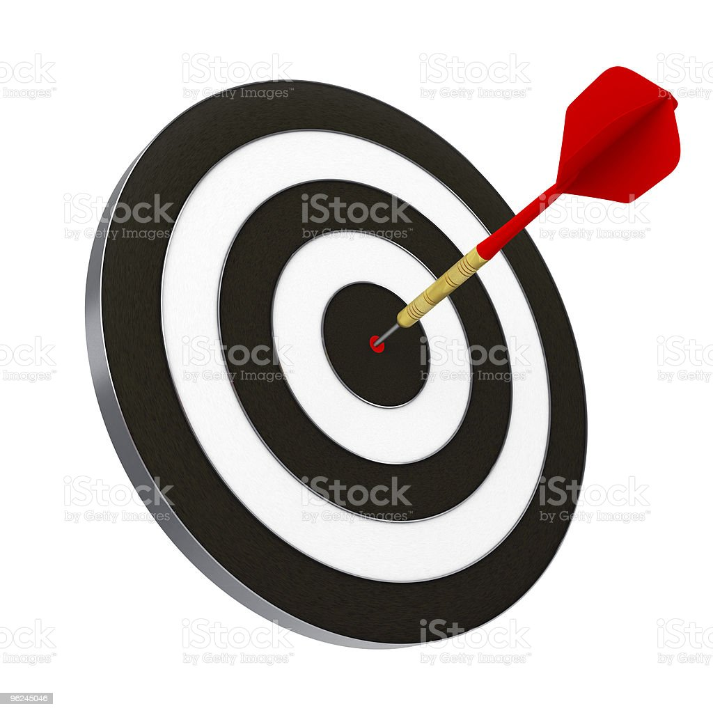 Dart and Dartboard royalty-free stock photo
