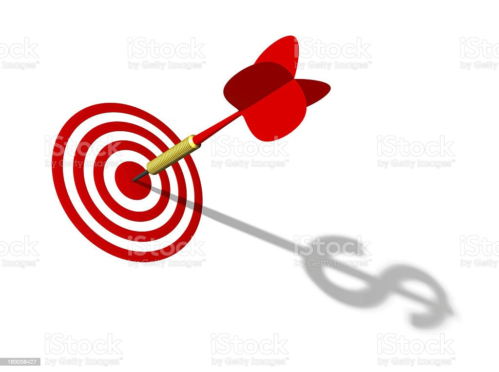 Dart and target royalty-free stock photo