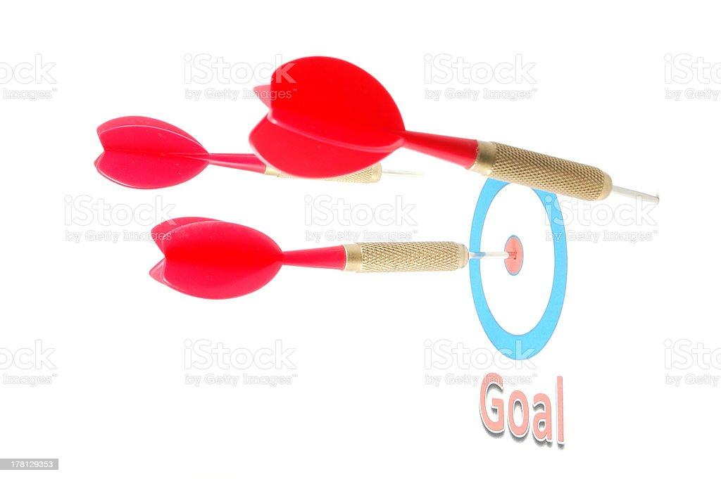 dart arrow hit the goal royalty-free stock photo