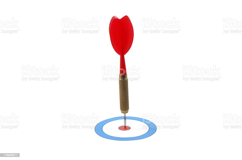 Dart arrow hit the target stock photo
