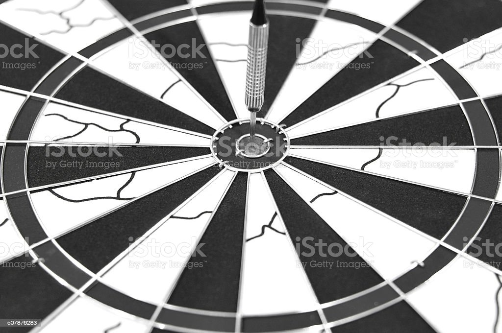 Dart Arrow on target royalty-free stock photo