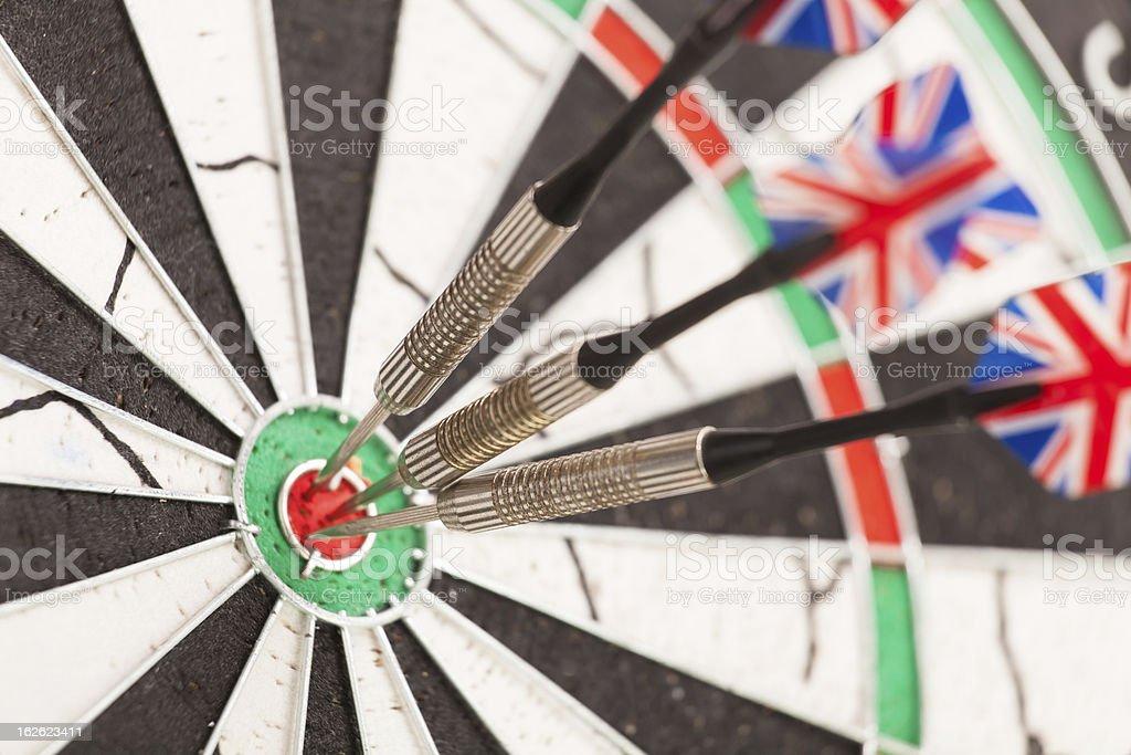 dart arrows dartboard royalty-free stock photo