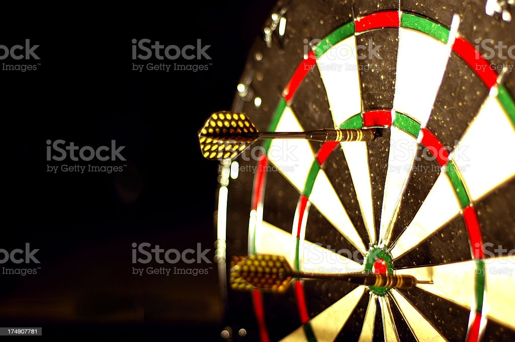 Dart Board 2 royalty-free stock photo