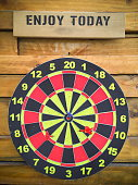 dart board and wood background
