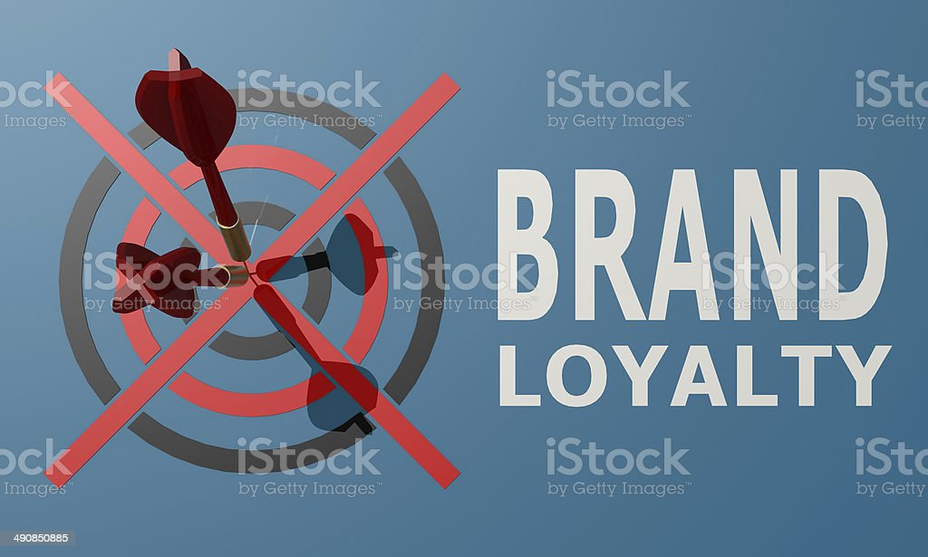 Dart board blue brand loyalty royalty-free stock photo