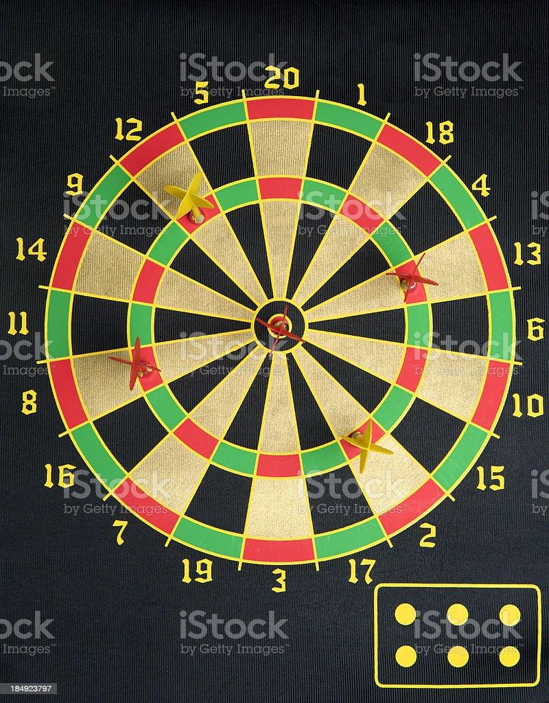 dart board game with darts