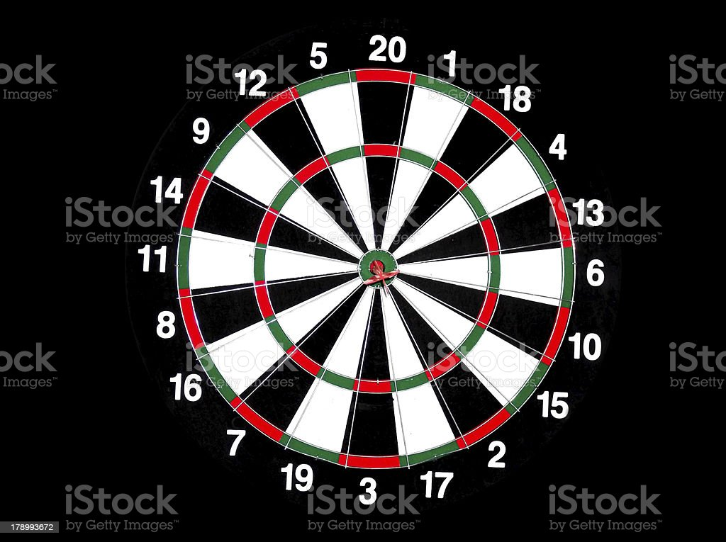 dart board royalty-free stock photo