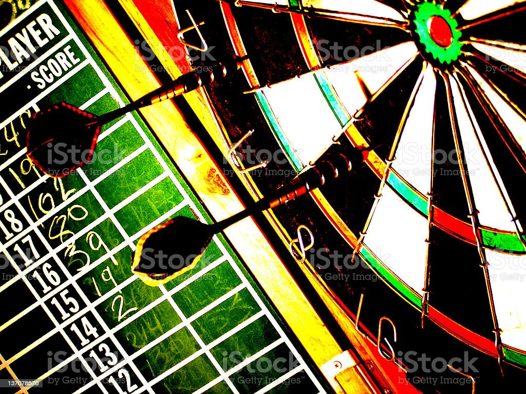 Dart Board Saturated royalty-free stock photo