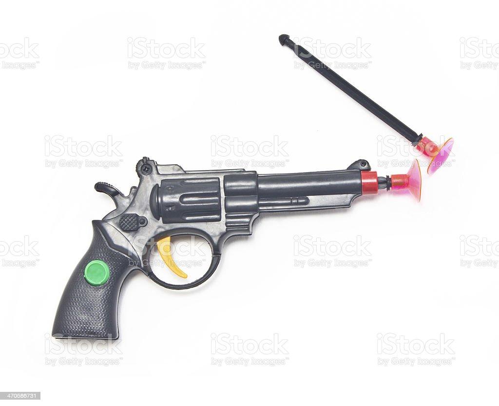 Dart gun with two darts. royalty-free stock photo
