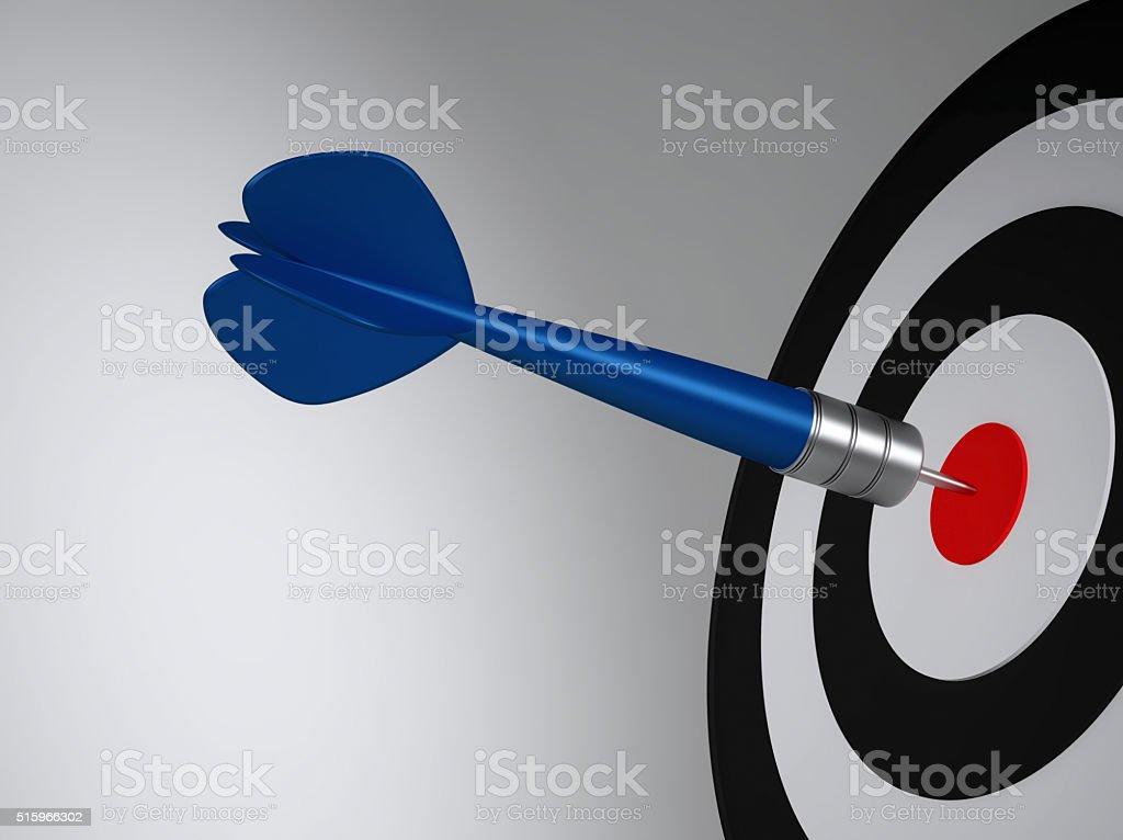 Dart hit the target stock photo