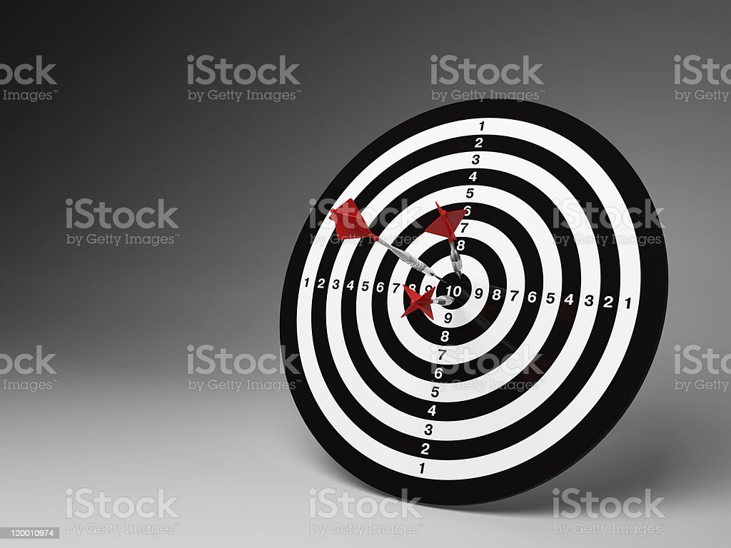 Dart hitting a target royalty-free stock photo