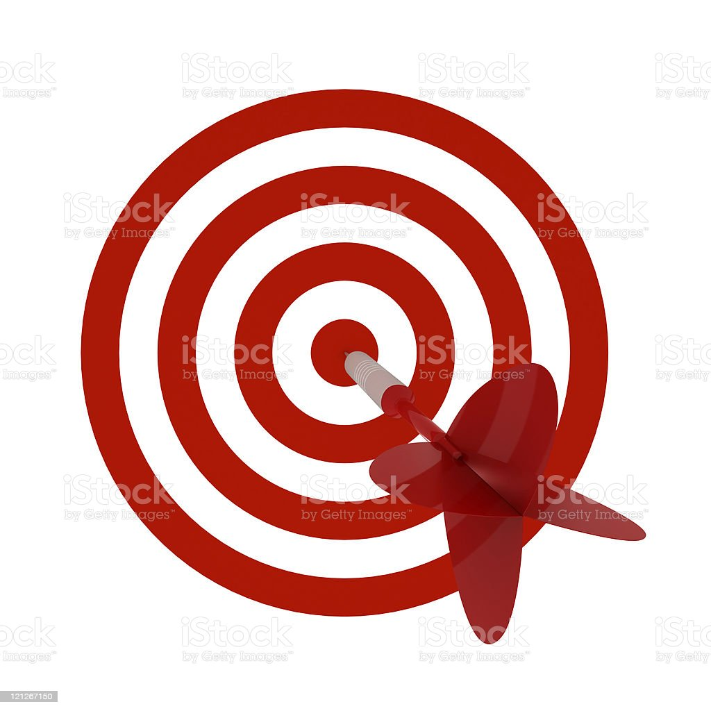 Dart Hitting Target royalty-free stock photo