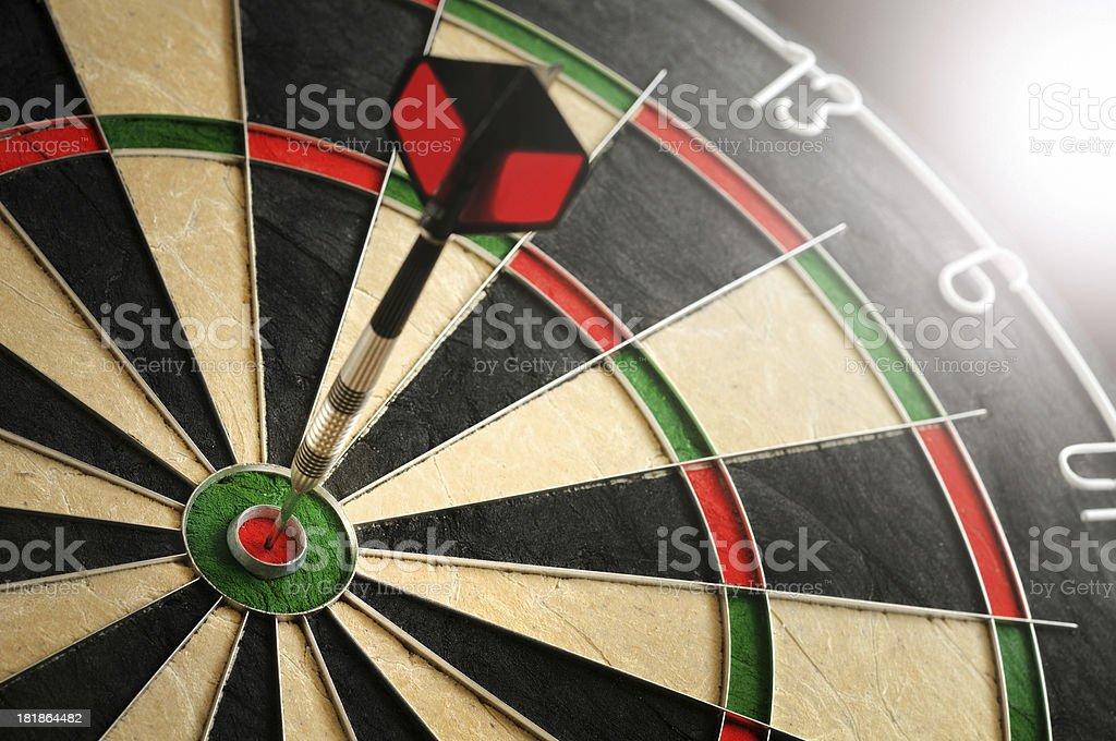 Dart Hitting Target royalty-free stock photo