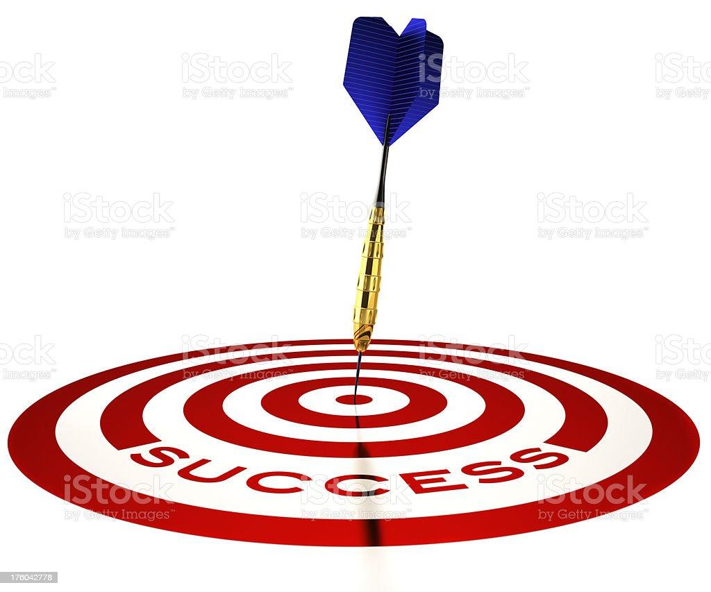 Dart in bull's eye of success royalty-free stock photo