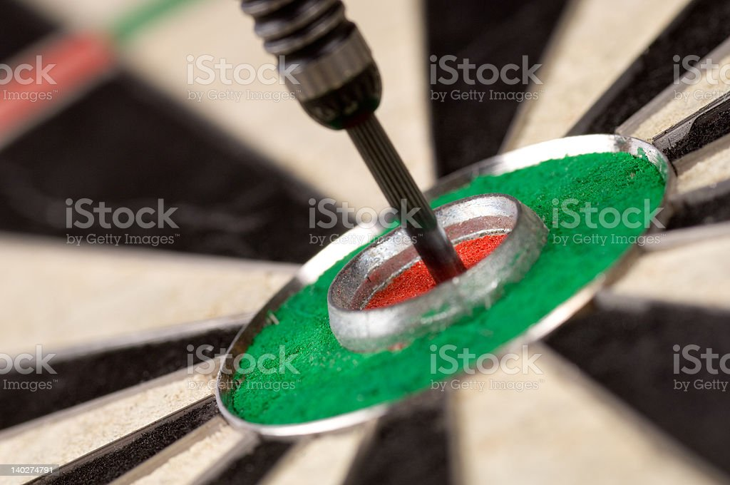 Dart in Bullseye royalty-free stock photo