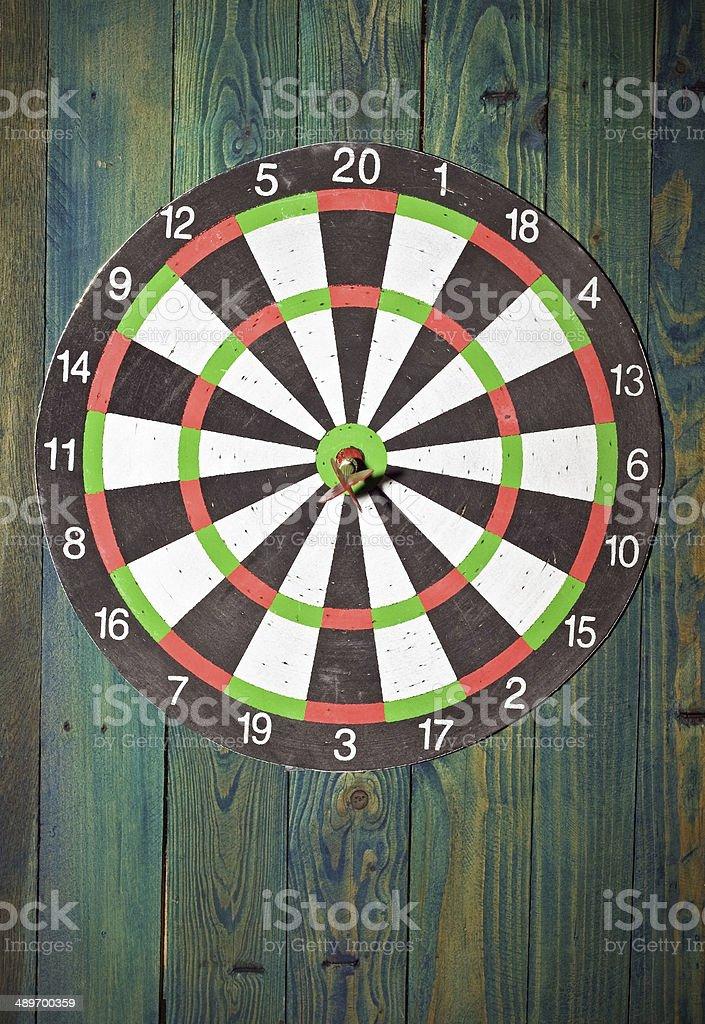 dart in centre stock photo