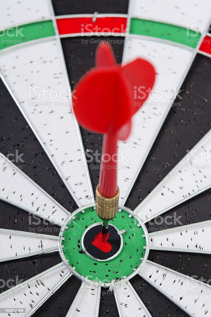 dart in hart royalty-free stock photo
