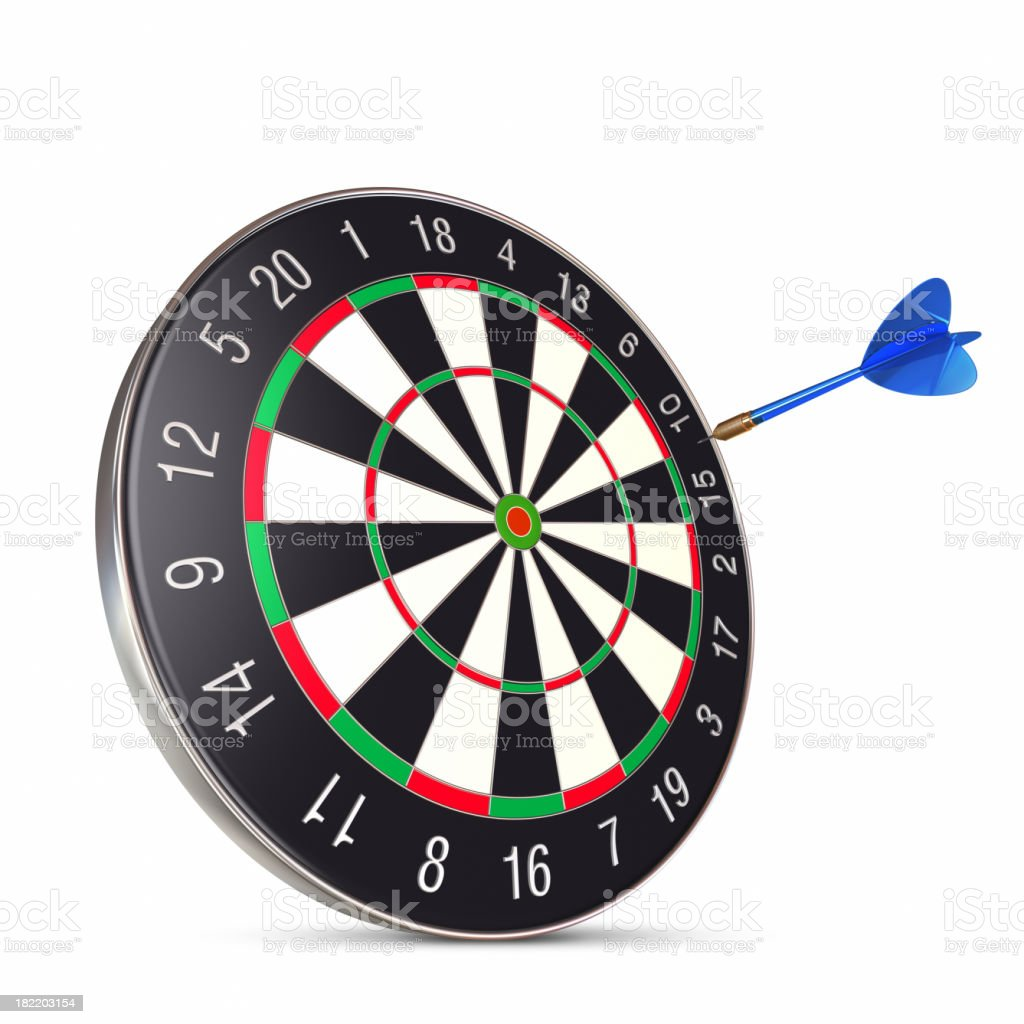Dart on center royalty-free stock photo