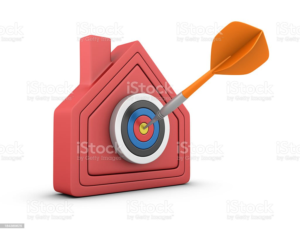 Dart on House royalty-free stock photo