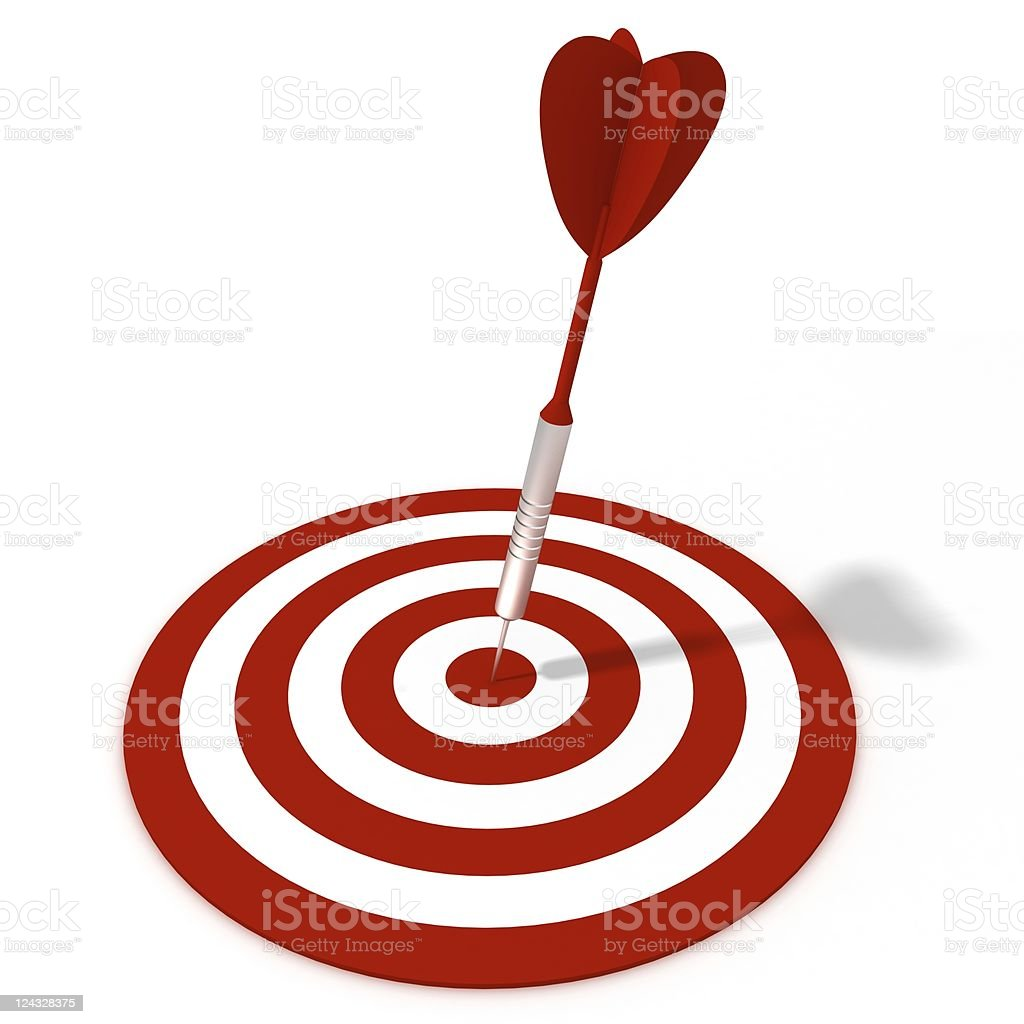 Dart on Target royalty-free stock photo